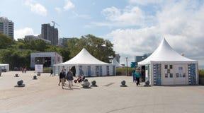 Stillahavs- meridian för festivalby. Royaltyfria Bilder