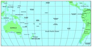 Stillahavs- söder för hav Arkivbilder