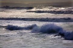 Stillahavs- san för blått Kalifornien francisco hav waves Arkivbilder