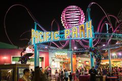 Stillahavs- Santa Monica ` s parkerar Royaltyfri Foto