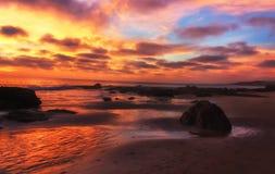 Stillahavs- solnedgång Arkivbilder