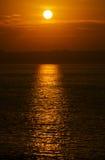 Stillahavs- solnedgång Fotografering för Bildbyråer