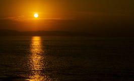 Stillahavs- solnedgång Royaltyfri Fotografi
