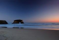 Stillahavs- solnedgång royaltyfria foton