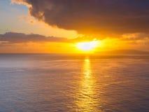 Stillahavs- soluppgång Arkivbilder