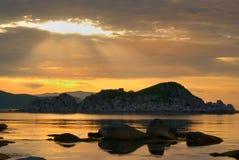 Stillahavs- soluppgång för 2 hav Royaltyfri Bild