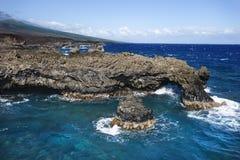Stillahavs- stenigt för klippahav Arkivfoto