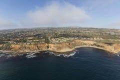 Stillahavskusten flyg- Rancho Palos Verdes California arkivfoto