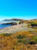 Stillahavskustenhuvudväg, San Luis Obispo Co , CA Royaltyfria Bilder