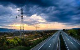 Stille Autobahn Lizenzfreies Stockfoto
