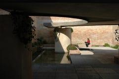 Stille binnenplaats in Venetië Biennale stock foto