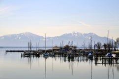 Stille in einem Hafen Stockfotos