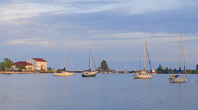 Stille Haven in de Avond Royalty-vrije Stock Foto