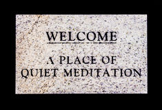 Stille Meditatie Stock Foto