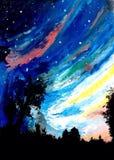 Stille nacht Royalty-vrije Stock Afbeelding