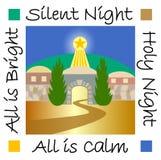 Stille Nacht Bethlehem stock illustratie