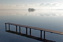 Stille scène bij het Schwerin meer, Duitsland Royalty-vrije Stock Afbeelding