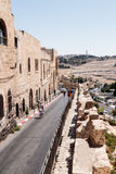 Stille Straßen in der alten Stadt von Jerusalem, Israel Straße Batei Mahase Stockbild