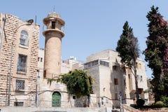 Stille Straßen in der alten Stadt von Jerusalem, Israel Straße Habad Mahase Stockbild