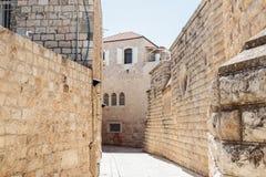 Stille Straßen in der alten Stadt von Jerusalem, Israel Straße Hativat Etsyoni Stockfotos