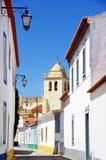 Stille straat in dorp Alvito royalty-vrije stock fotografie