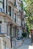 Stille straat in NY Stock Foto