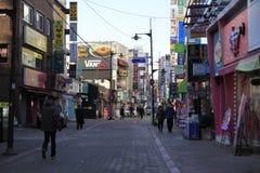 Stille straat in Seoel Korea Royalty-vrije Stock Fotografie
