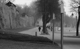Stille straten van Novgorod Royalty-vrije Stock Afbeelding