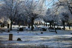 Stille Szene des Winters 1897 Stockbild