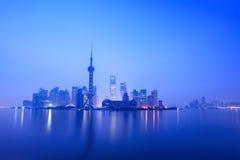 Stille von Dämmerung in Shanghai Lizenzfreie Stockfotografie