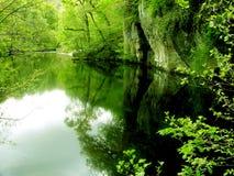 Stille Wasser sind tief Stockfotos