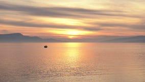 Stille zonsondergang bij het overzees Royalty-vrije Stock Foto