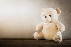 Stilleben av en gullig nallebjörn Royaltyfria Bilder