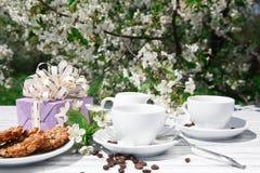 Stilleben av en kopp kaffe Arkivbild