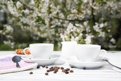 Stilleben av en kopp kaffe Fotografering för Bildbyråer