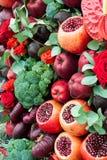 Stilleben av frukter och grönsaker Royaltyfri Fotografi
