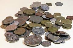 Stilleben av gamla mynt Royaltyfria Bilder