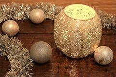 Stilleben av julglitter Royaltyfri Bild