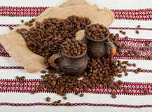 Stilleben av kaffe Royaltyfria Foton