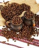 Stilleben av kaffe Arkivfoton