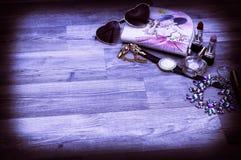 Stilleben av modekvinnan, objekt royaltyfri bild