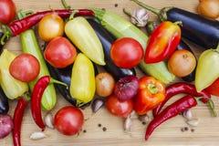 Stilleben av nytt, höstgrönsaker Höst arkivfoton
