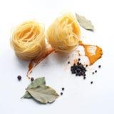 Stilleben av pasta Fotografering för Bildbyråer