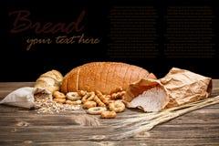 Stilleben av skivat bröd Arkivfoton