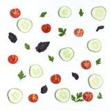 Stilleben av skivor av grönsaker Royaltyfri Bild