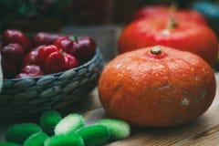 Stilleben av tacksägelsedaggrönsaker Arkivfoton