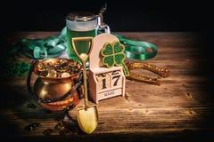 Stilleben för dag för St Patrick ` s Arkivbild