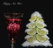 Stilleben för nytt år arkivfoto