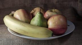 Stilleben med äpplen Arkivfoto
