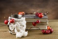 Stilleben med böcker Arkivfoton